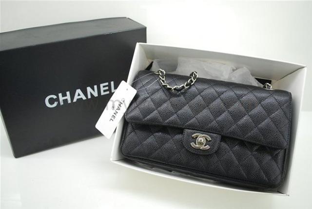 ChanelBagsA01112BlackCaviar